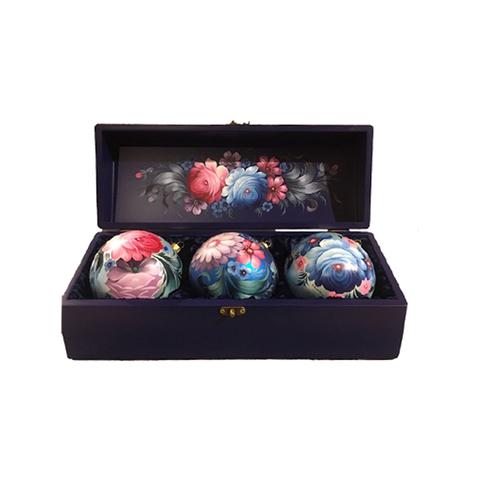 Набор из 3 елочных шаров в шкатулке SET04D-667785845