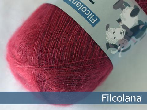 Кид мохер с шелком Filcolana Tilia 323 Cranberry купить
