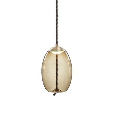 Подвесной светильник копия Knot Uovo by Brokis (коньячный)