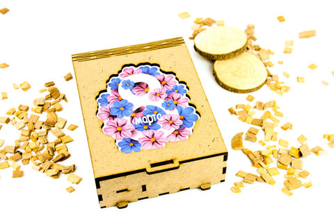 Шкатулка книжка - Цветы