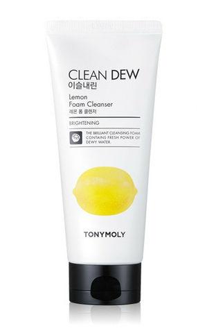 TONY MOLY Пенка очищающая для умывания с экстрактом лимона Clean Dew Lemon Foam Cleanser 180 мл.