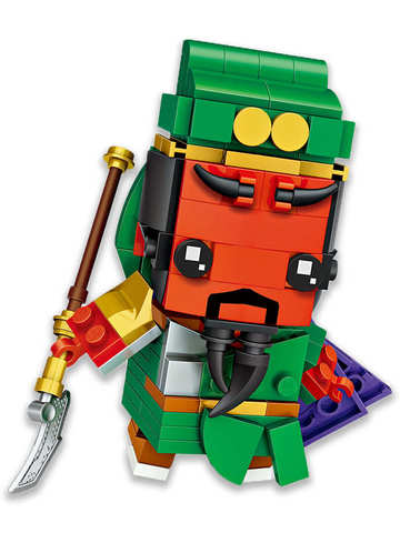 Конструктор LOZ mini Генерал Гуань Юй 183 детали NO. 1454 Guan Yu BrickHeadz
