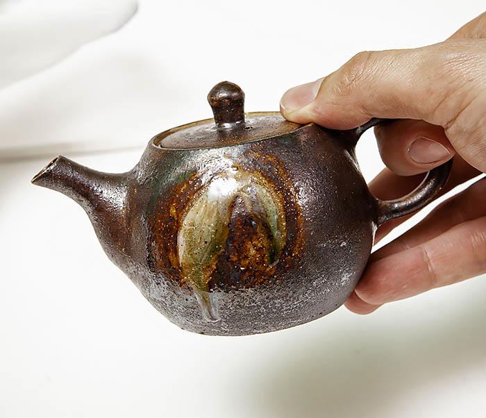POT101 Маленький чайник из керамики ручной работы фото 12