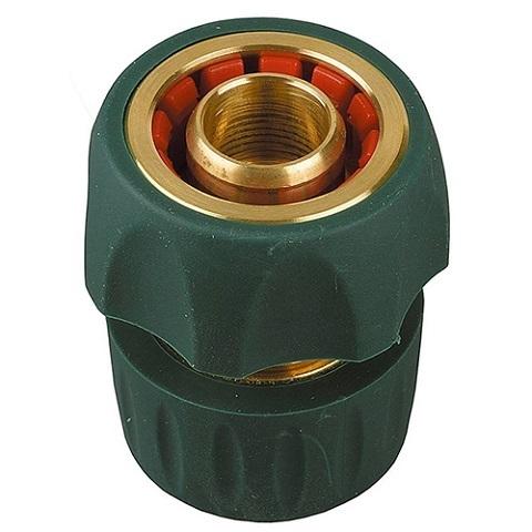 Соединитель быстросъемный для шланга, из латуни с TPR 3/4 с автостопом, RACO