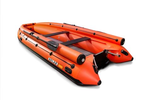 Надувная ПВХ-лодка Солар - 420 Strela Jet Tunnel Expedition (оранжевый)
