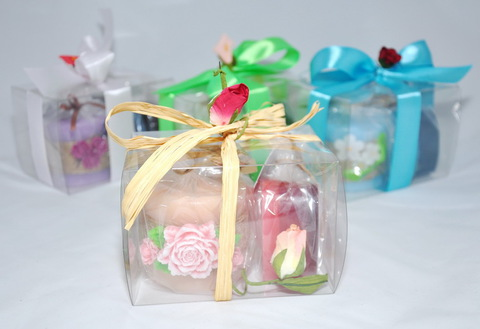 Набор подарочный №3/2 ВЕСНА (свеча (в ассор-те) - 1 шт, мыло фигурное 8 марта -1 шт)/TM ChocoLatte