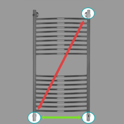 Полотенцесушитель водяной Energy ELITE 1000x500