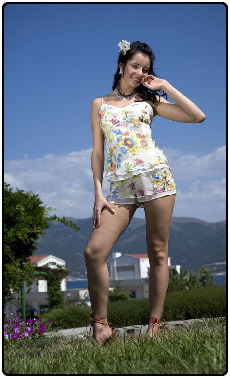 Пижама шелковая c шортами (Charoi) Италия