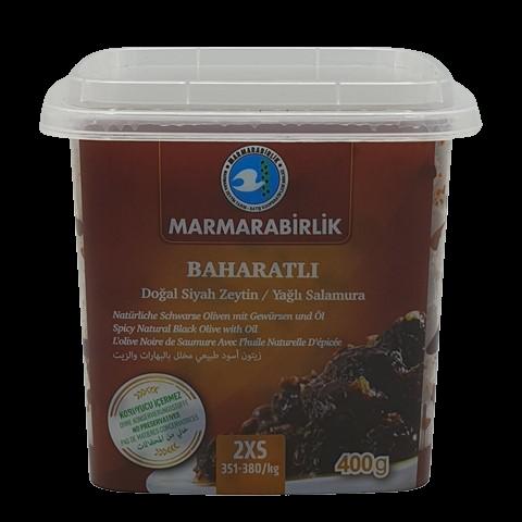 Маслины вяленые с косточкой без рассола со специями (2XS) MARMARABIRLIK, 400 гр