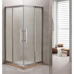 Душевое ограждение Grossman PR-90SQ серебро, 90х90, с раздвижными дверьми, угловое