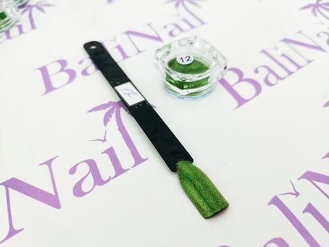 Пыль для дизайна ногтей (св-зеленый) #12