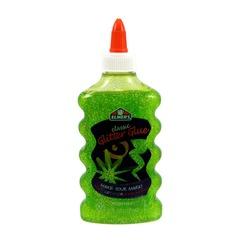 Клей для слайма Elmer's Glitter Glue блестящий зеленый 177 мл