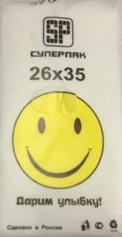 Пакет фасовочный, ПНД 18+8х35 (12) В пластах (Смайл) (арт 12052)