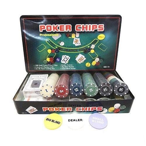 Набор для покера Holdem Light на 300 фишек с номиналом комплектация