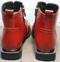 Женские ботинки на широком каблуке демисезонные Evromoda 1481547 S.A.-Red