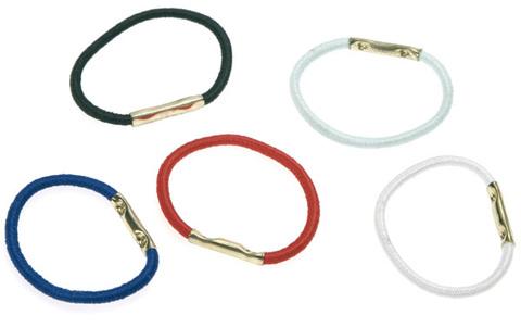 Резинки для волос (диаметр 25мм) цветные металлик