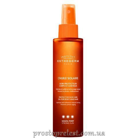 Institut Esthederm L'Huile Solaire Protective Sun Care Oil For Body And Hair SPF 50 - Солнцезащитный спрей для волос и тела