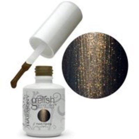 Harmony Gelish 424 - Welcome To The Masquerade Темно коричневый с золотым микроблеском