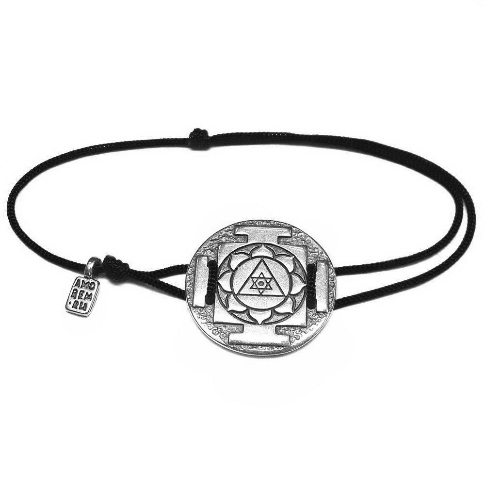 Yantra Ganesha Bracelet, sterling silver
