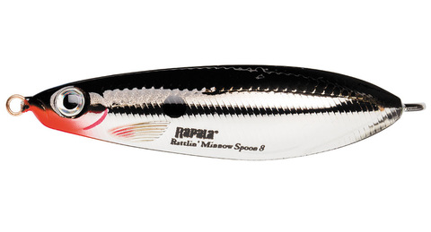 Незацепляйка RAPALA Rattlin' Minnow Spoon 8 см, цвет CH