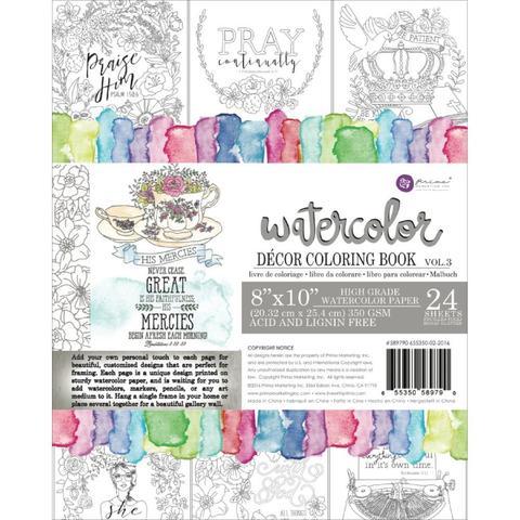 Акварельная книга-раскраска Watercolor Coloring Book - Prima Marketing