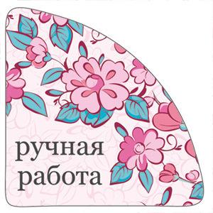 Уголок на упаковку Розовые пионы