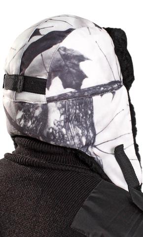 Шапка- ушанка тк.Алова Белый Лес (с меховой опушкой)