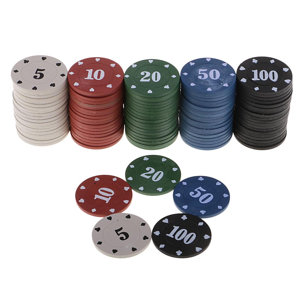 Набор для покера Holdem Light на 300 фишек с номиналом - фишки