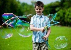 Мыльные пузыри - гиганты
