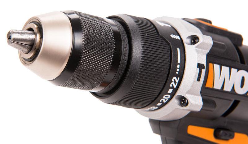 Дрель-шуруповерт ударная аккумуляторная WORX WX372, 20В, без АКБ и ЗУ