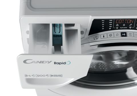 Узкая стиральная машина с сушкой Candy RapidO ROW42646DWMC-07