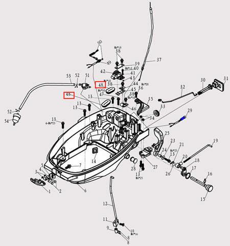 Заглушка 26*47 для лодочного мотора F9.8 Sea-PRO (2-48)