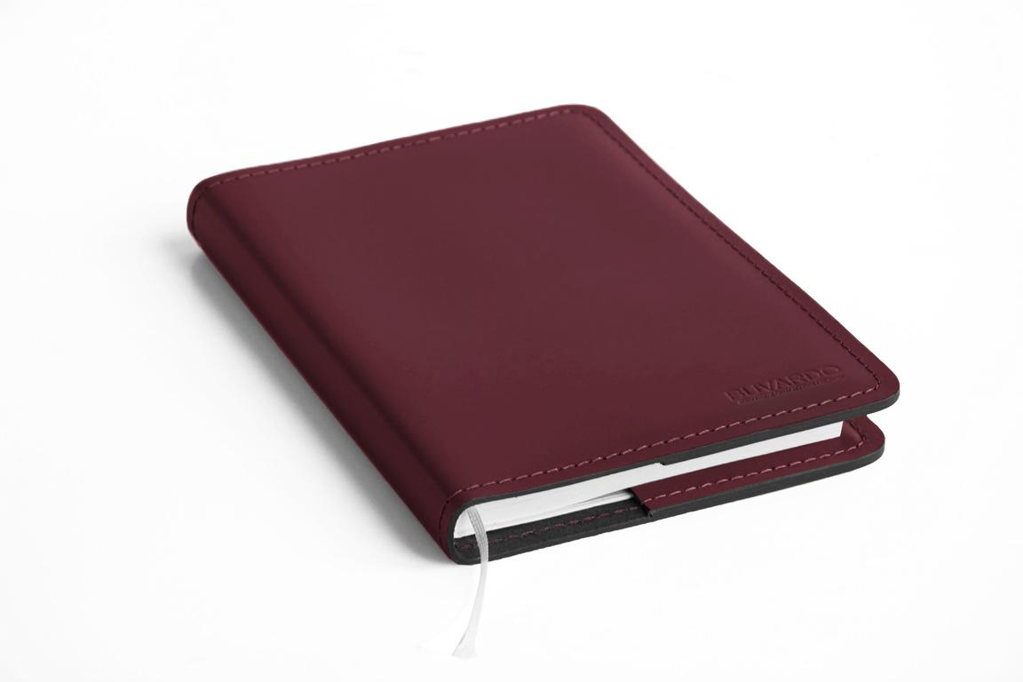 кожаные ежедневник а5 бордовый