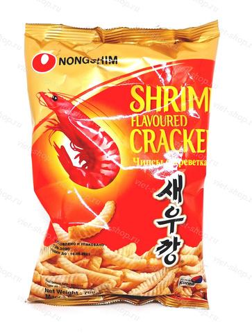Чипсы креветочные Shrimp Cracker, Корея, 75 гр.
