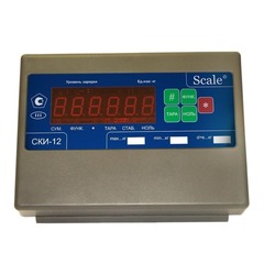 Весы платформенные СКЕЙЛ СКП 5000-1515, LED, АКБ, 5000кг, 2000гр, 1500х1500, RS-232, стойка (опция), с поверкой, выносной дисплей