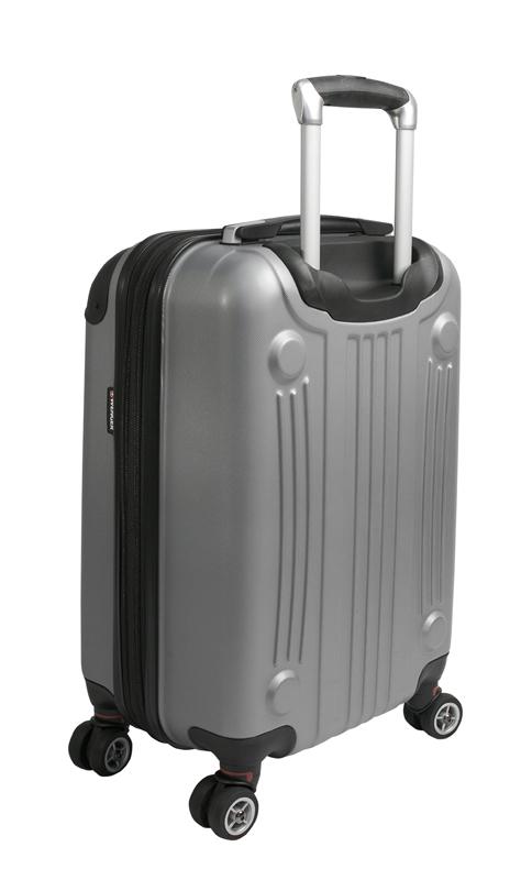Пластиковый чемодан Wenger Ridge для ручной клади, серебристый 54x34x24 см, 31 л. (6171014154)