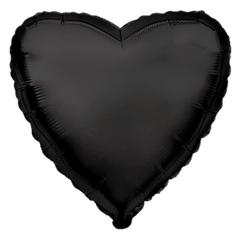 Шар сердце черный