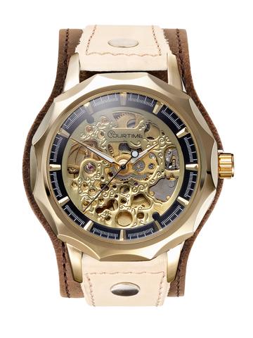 Часы скелетоны женские механические Dandy YOURTIME