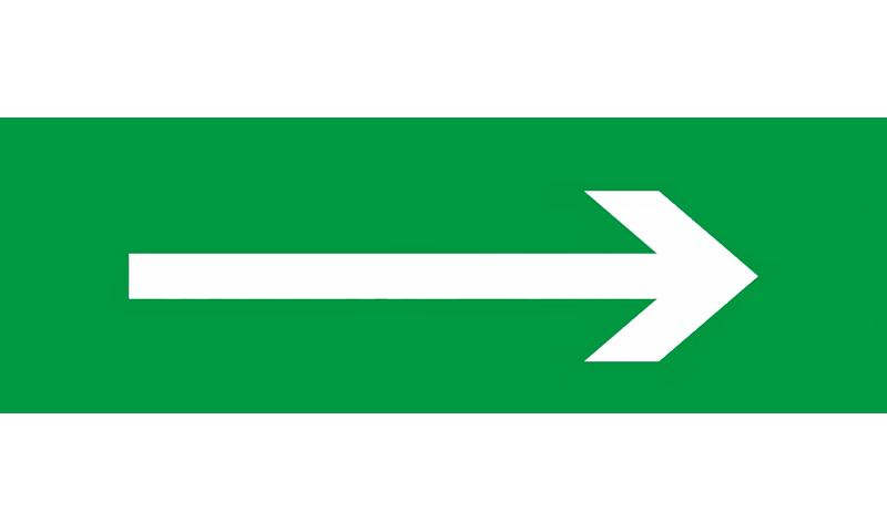 Знак для табло направления движения – СТРЕЛКА НАПРАВО