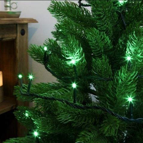 нить гирлянда 5 метров зеленый цвет string led