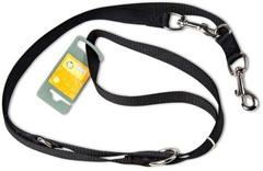 Поводок-перестежка для собак, Hunter Smart Ecco 20/200, нейлон черный