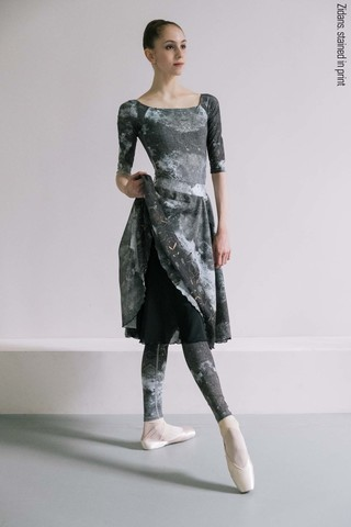 Two-sided skirt, stained in print | mud