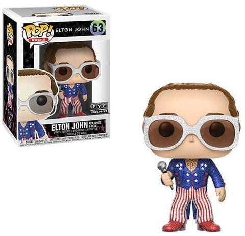 POP! Vinyl: Rocks: Elton John Red, White, Blue