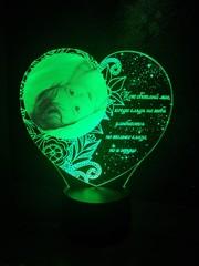 Фото-светильник с пожеланием