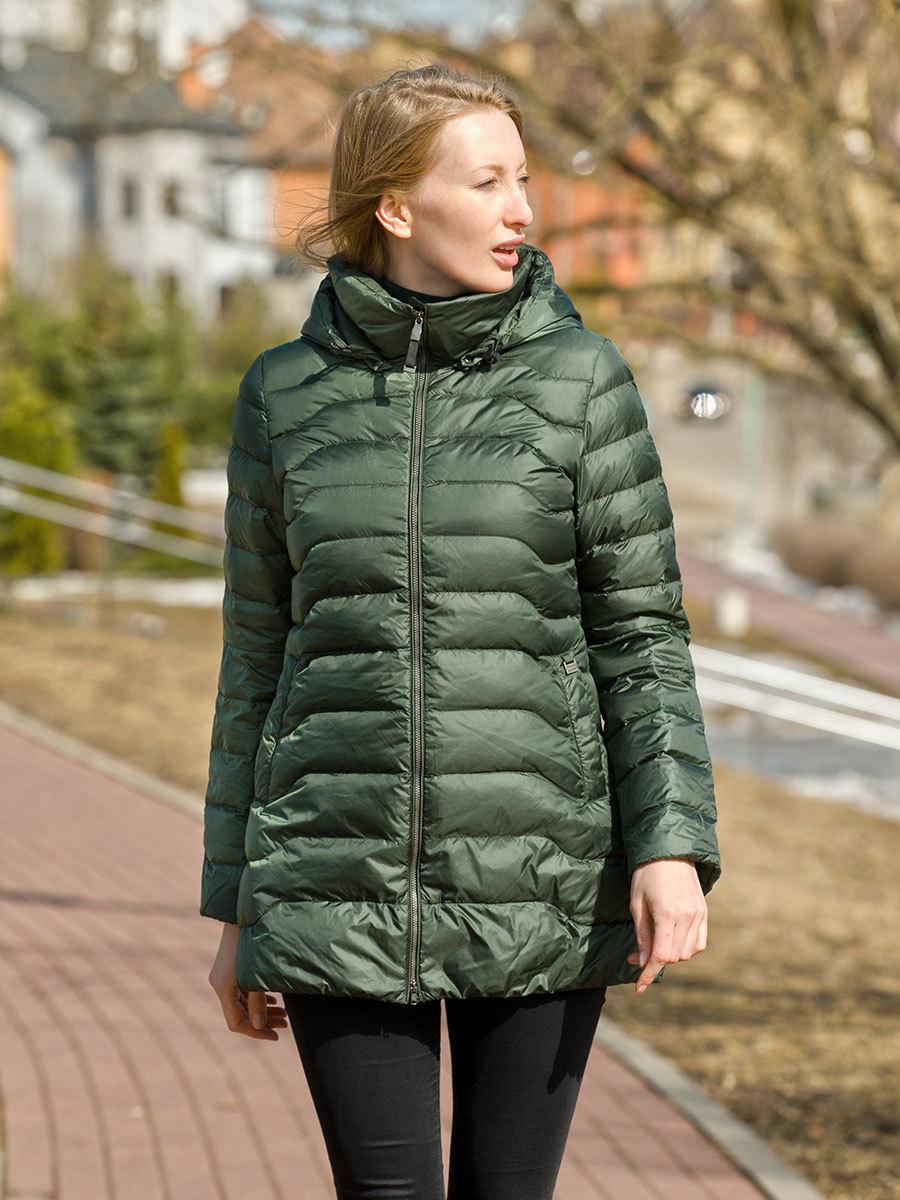 Joutsen пуховик Pihlaja темно-зеленый - Фото 1