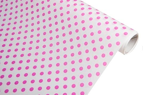 Бумага белая крафт 40гр/м2, 70см x 10м, Бисер, цвет:розовый