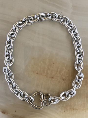 Колье Диа, серебряный цвет
