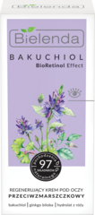 BIELENDA BAKUCHIOL BioRetinol Effect восстанавливающий крем против морщин вокруг глаз 15мл