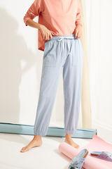 Блакитні штани-джоггери з бавовни