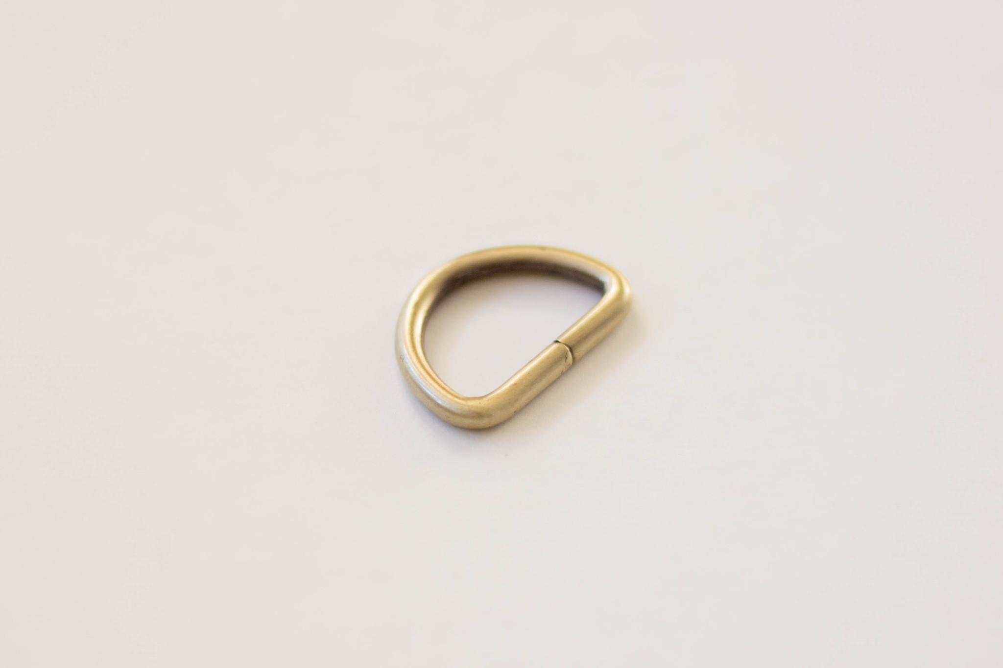 Полукольцо 25 мм - латунь